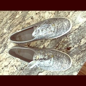 Kate Spade Keds - Womens wedding shoes in silver